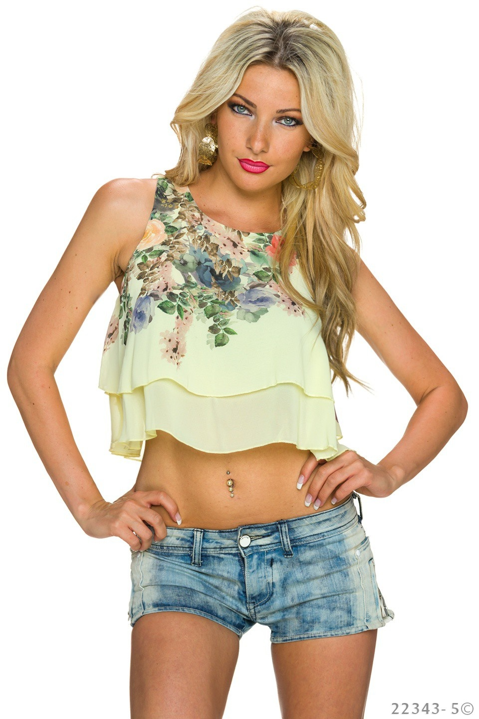 Crop Top Geel