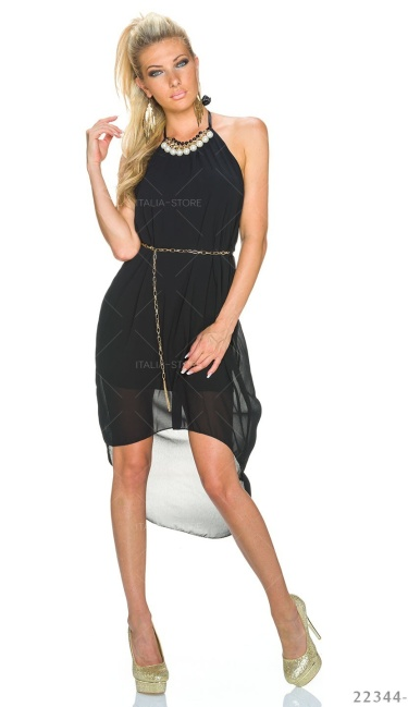 ca5789914ae2ef Mullet-Jurk Zwart - q22344-1 van Made In Italy - Sexy-Store - Online ...