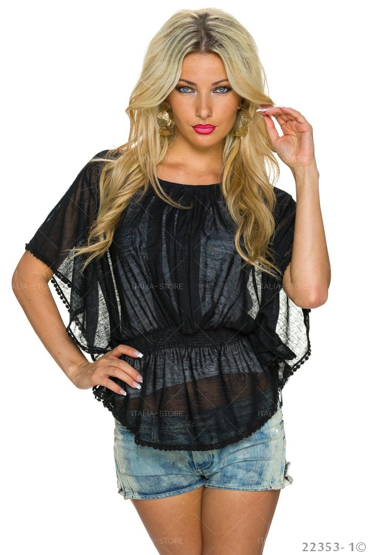 Top + Shirt Zwart - Wit