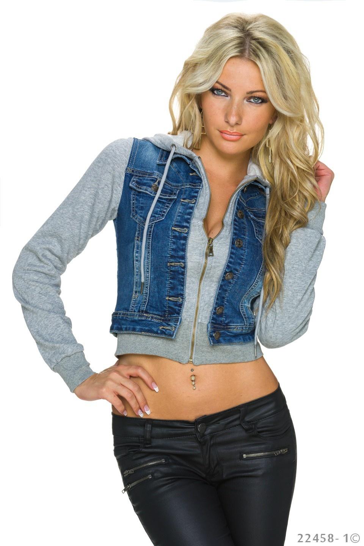 Jeans-Jas Blauw