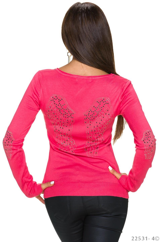 Fijngebreide-Pullover Zalm