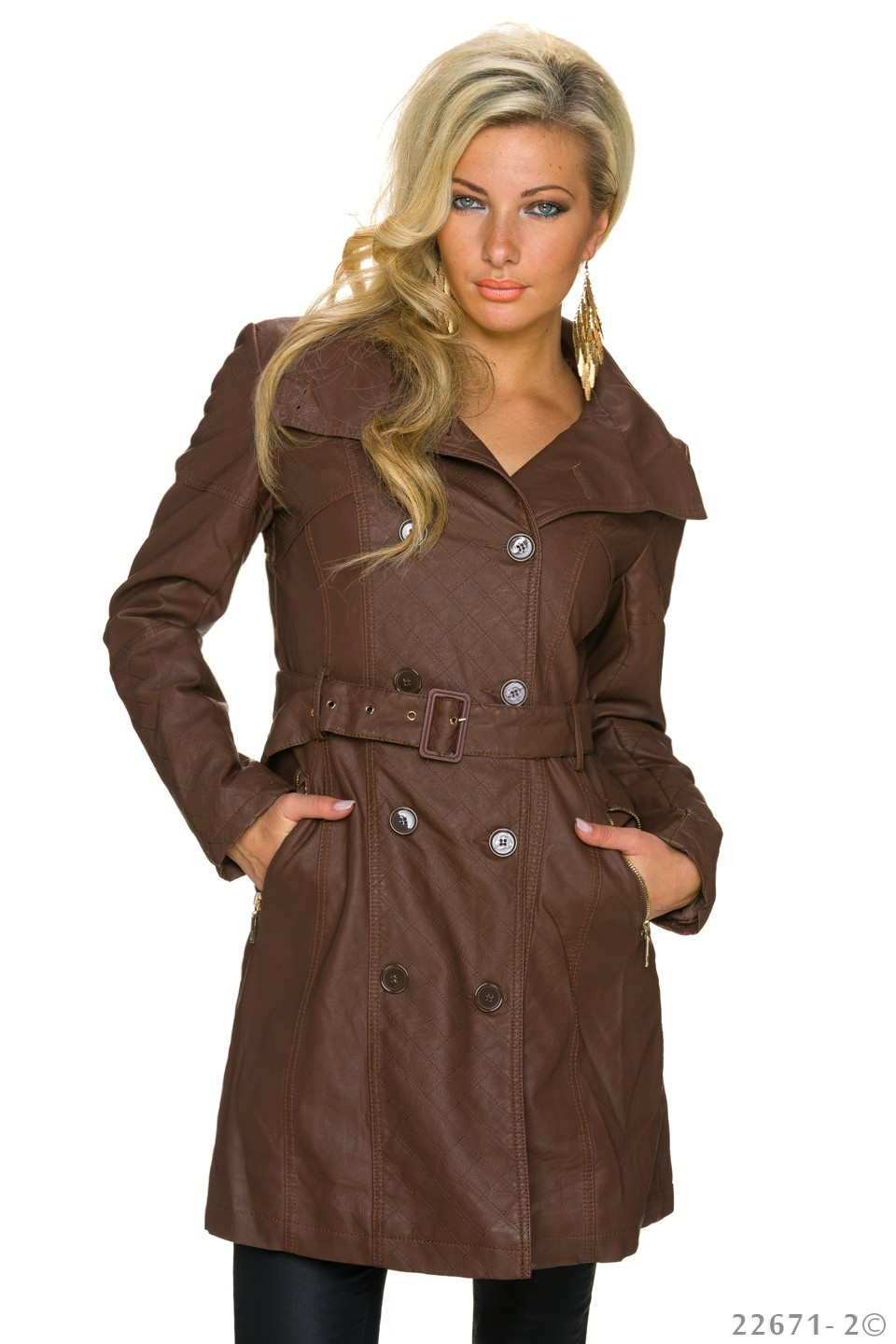 Trench-Coat Donkerbruin