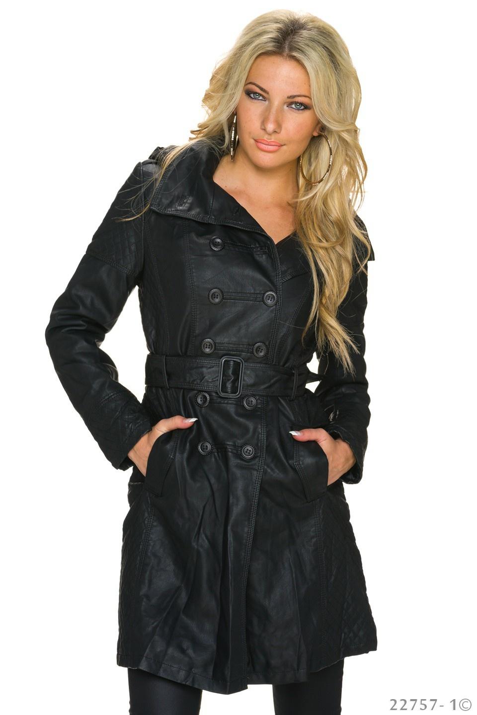Trench-Coat Zwart