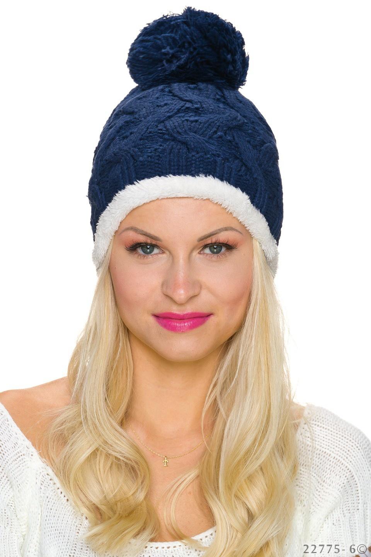 Knitted Hat Darkblue