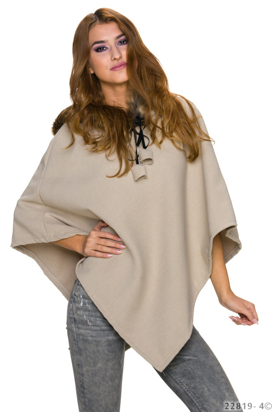 Poncho Oxford tan