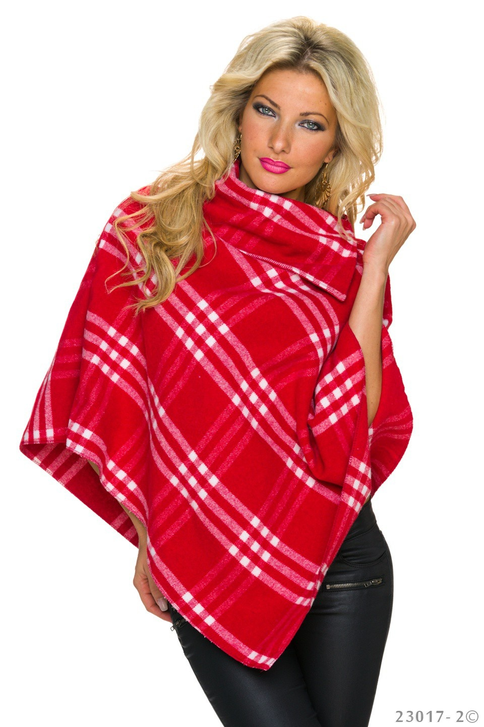 Poncho Rood - Wit