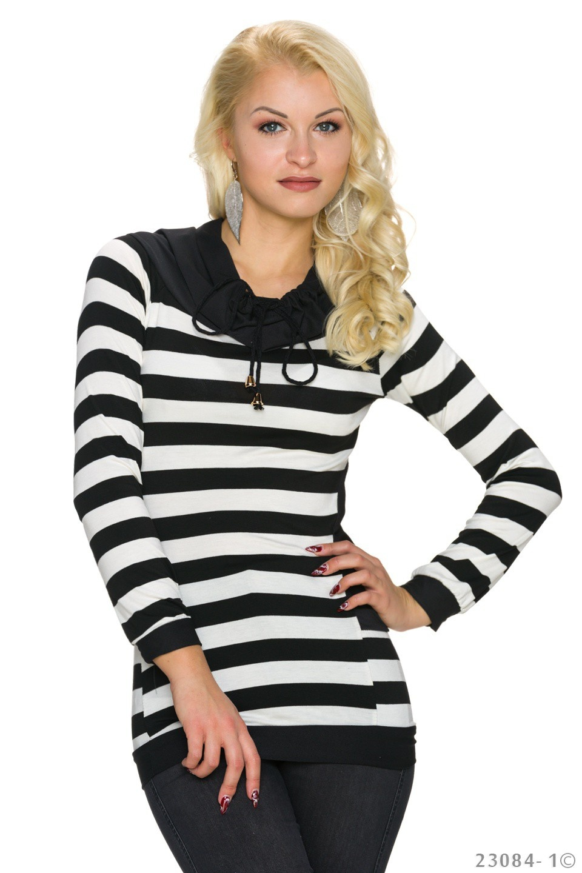 Sweatshirt Zwart - Wit