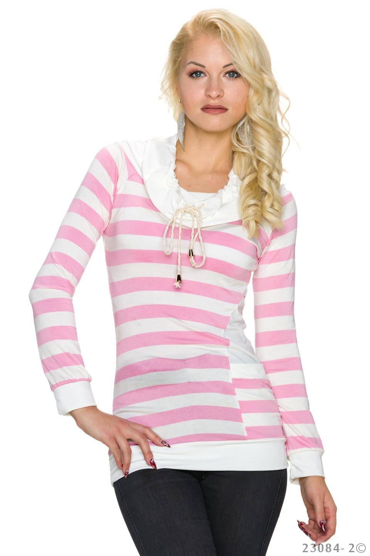 Sweatshirt Wit - Lichtroze