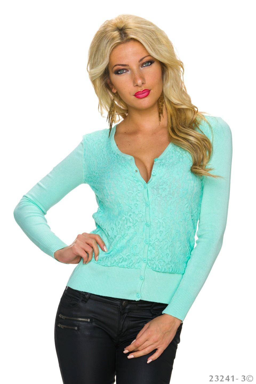 Jacket Turquoise-groen