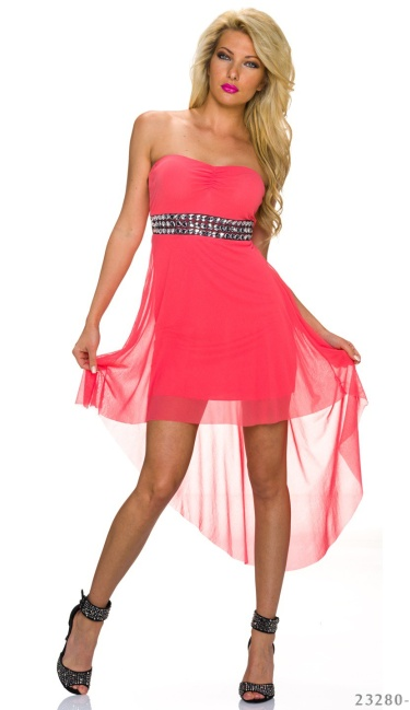 Mullet-Dress Coral - q23280-4 by Emma & Giovanni