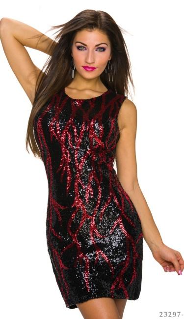 Zwart Met Rood Jurkje.Pailletten Mini Jurkje Zwart Rood Q23297 2 Van Mei Sexy Store