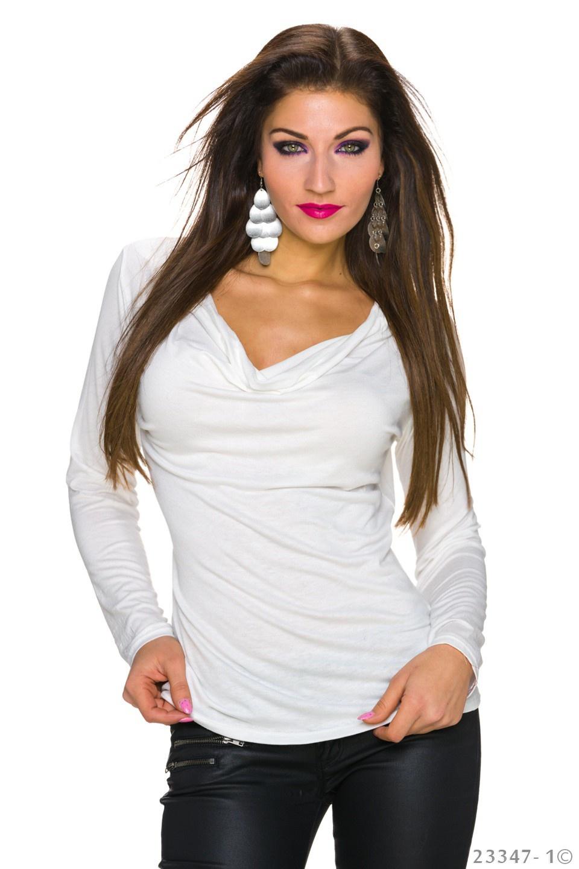 Shirt met lange mouwen Bot-wit