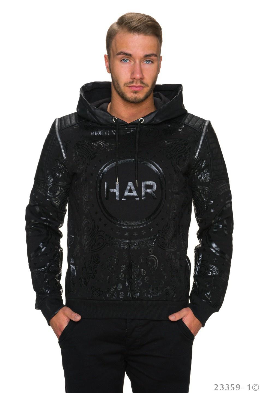 Capuchon-Pullover Zwart