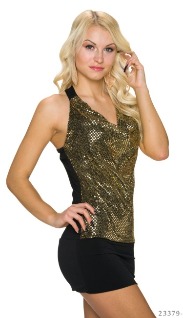 Minidress Black / Gold