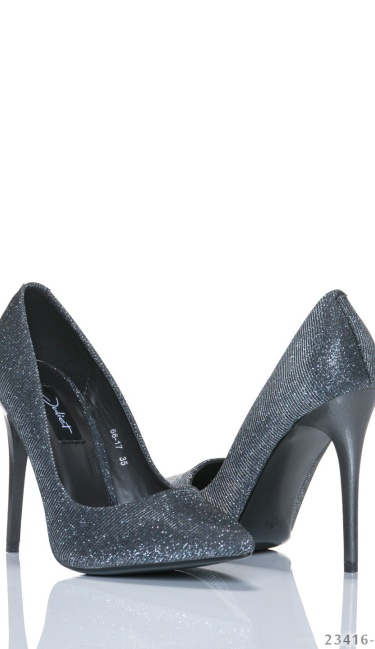 High Heels-Pumps Grijs