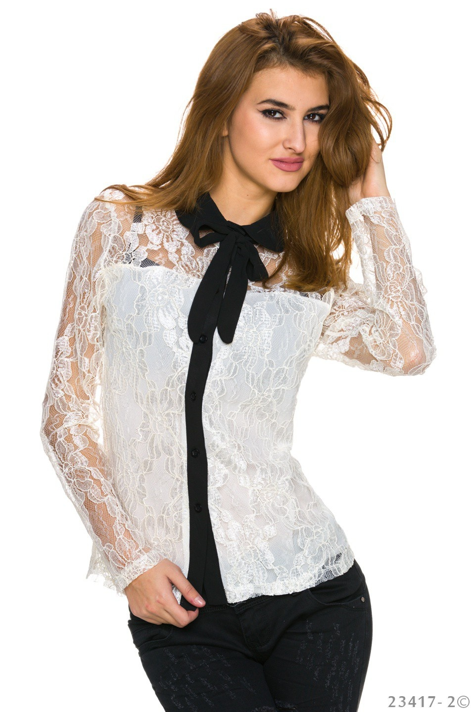 Blouse White - Black