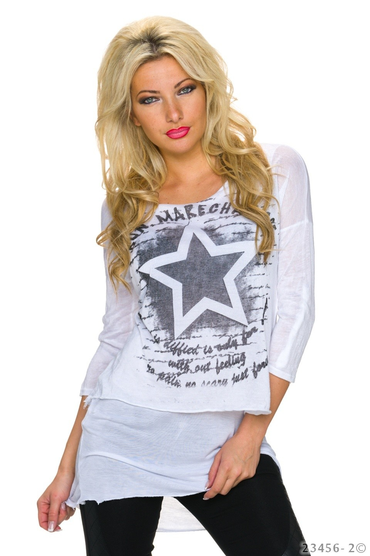 Mullet Shirt Wit