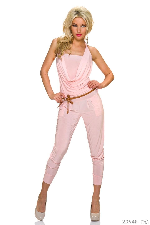 Halter-Jumpsuit Pink