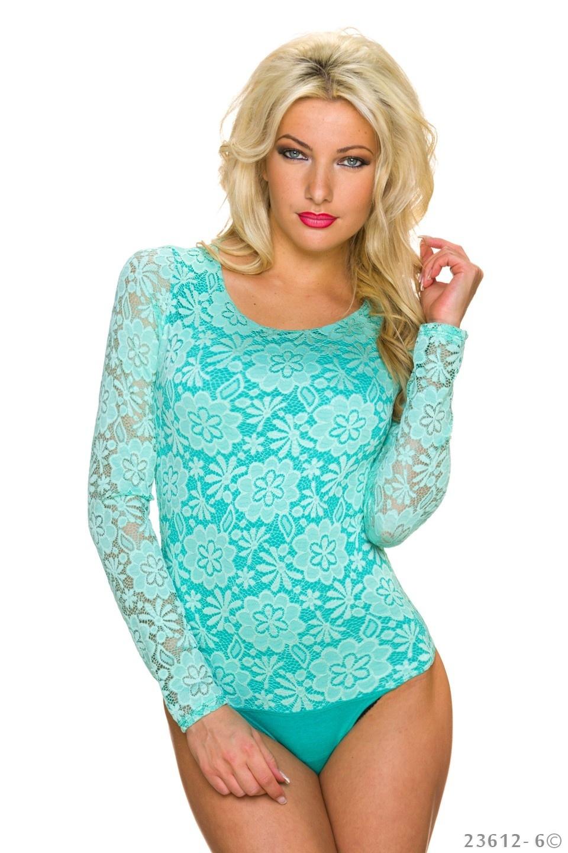 Body-Shirt Turquoise-Groen