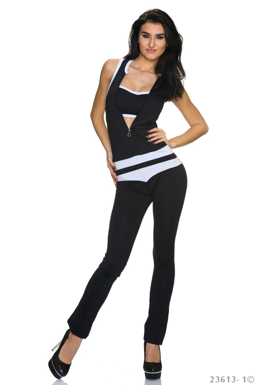 Jumpsuit Zwart - Wit
