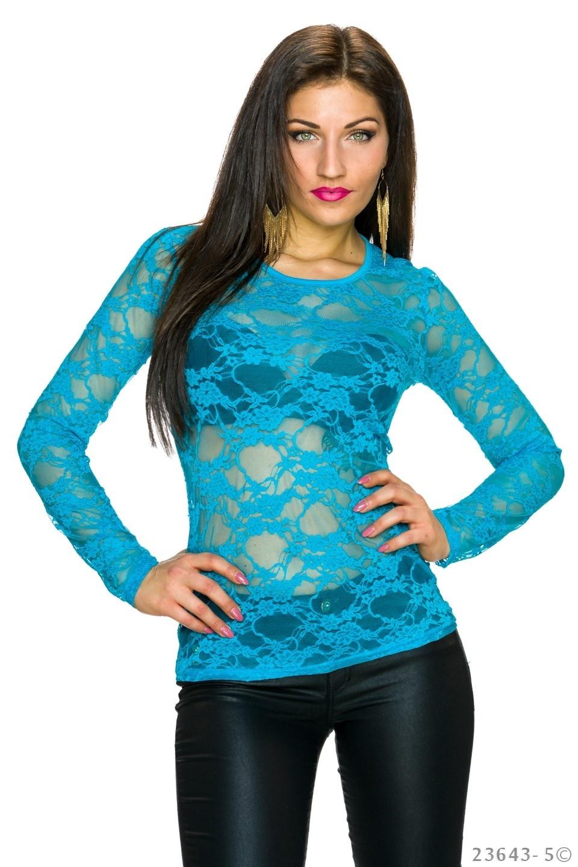 Shirt met lange mouwen Blauw