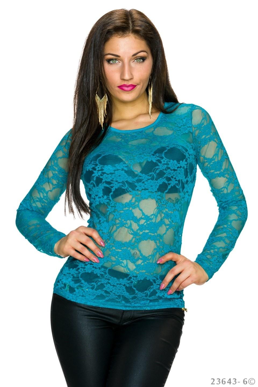 Shirt met lange mouwen Zee-Blauw