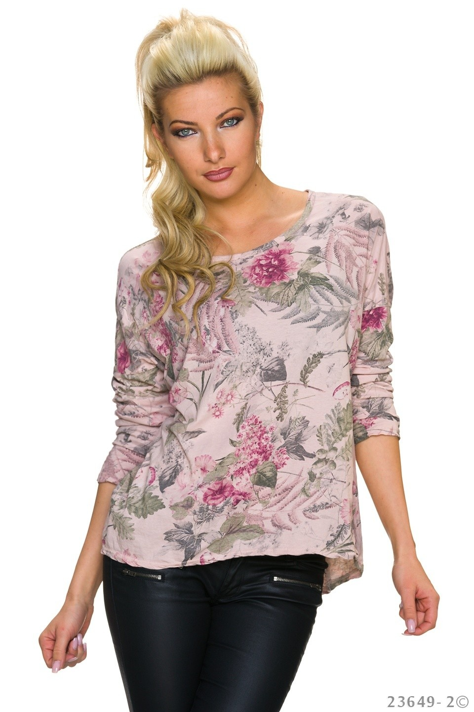 Shirt met lange mouwen Mixed - Rose
