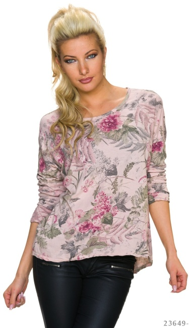 Long-Sleeved-Shirt Mixed / Rose
