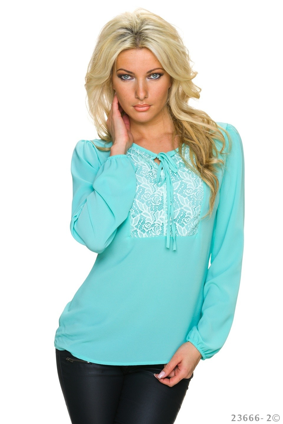 Blouse Turquoise-Groen