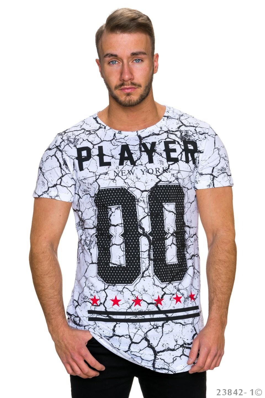 T-Shirt Wit - Zwart