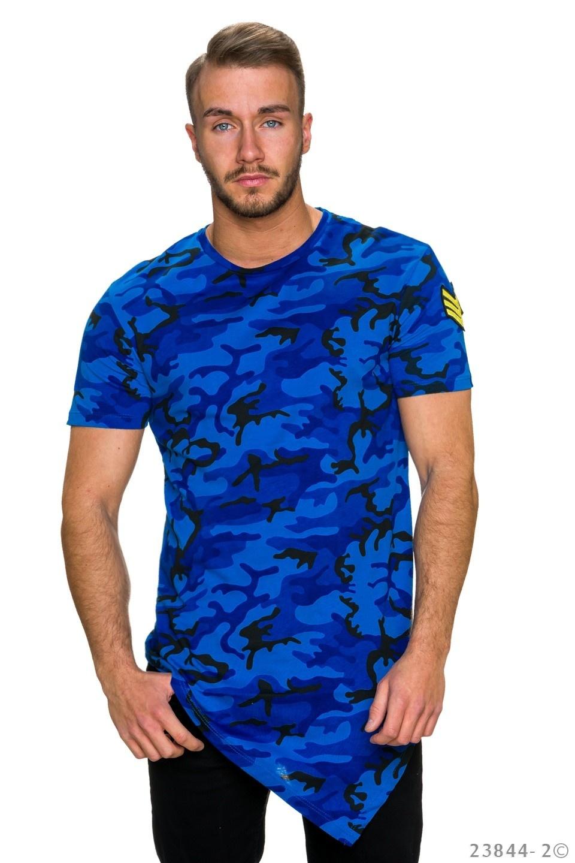 T-Shirt Donker-Blauw