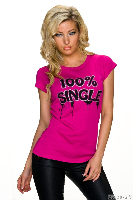 Shirt met korte mouwen Fuchsia