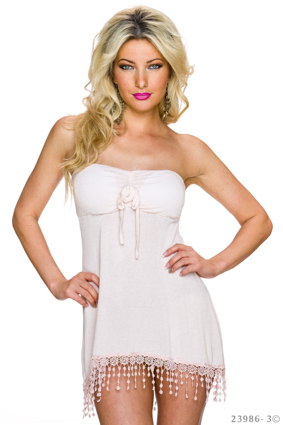 Strapless Top Roze