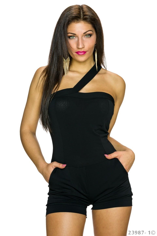 Hotpants-Jumpsuit Zwart