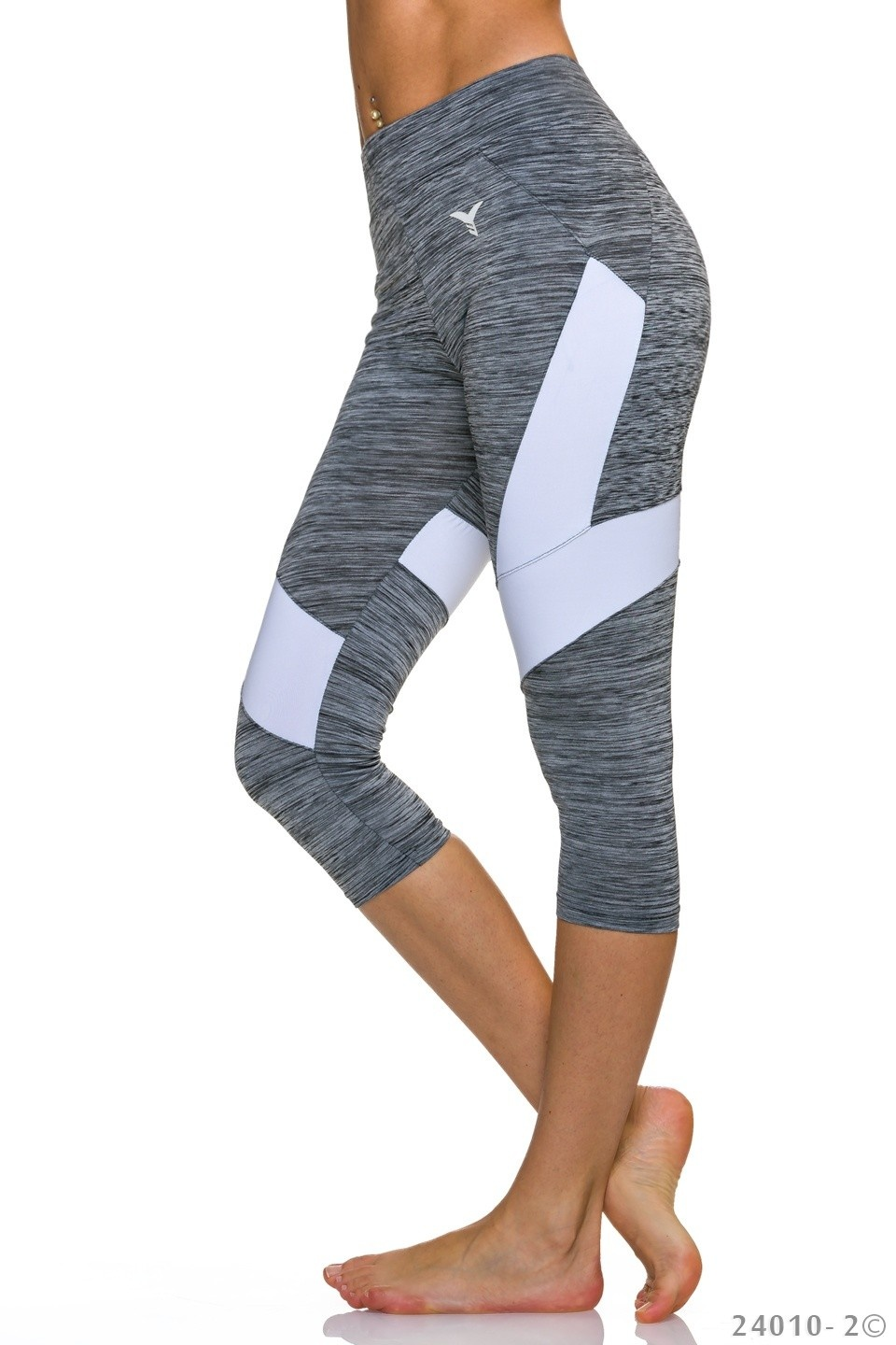3/4-leggings Grijs - Wit