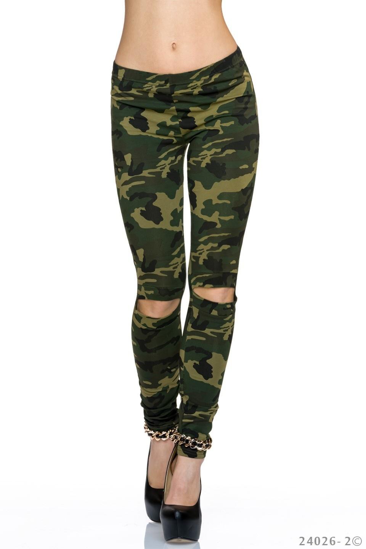 Leggings Camouflage - Olijf