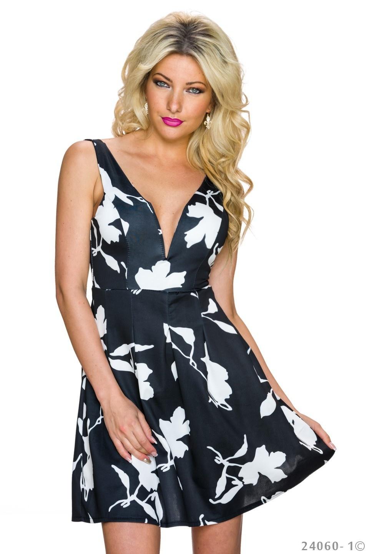 Mini-Dress Black - White
