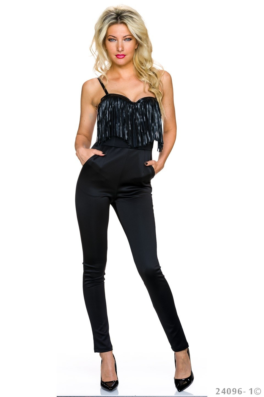 Strapless Jumpsuit Zwart