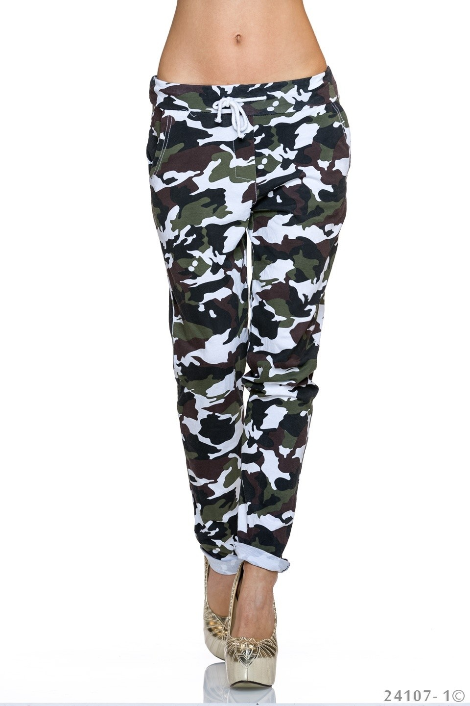 Joggingbroek Camouflage - Wit