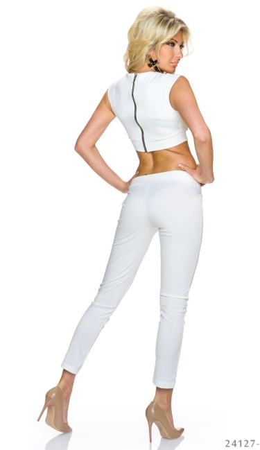 Top + Pants White