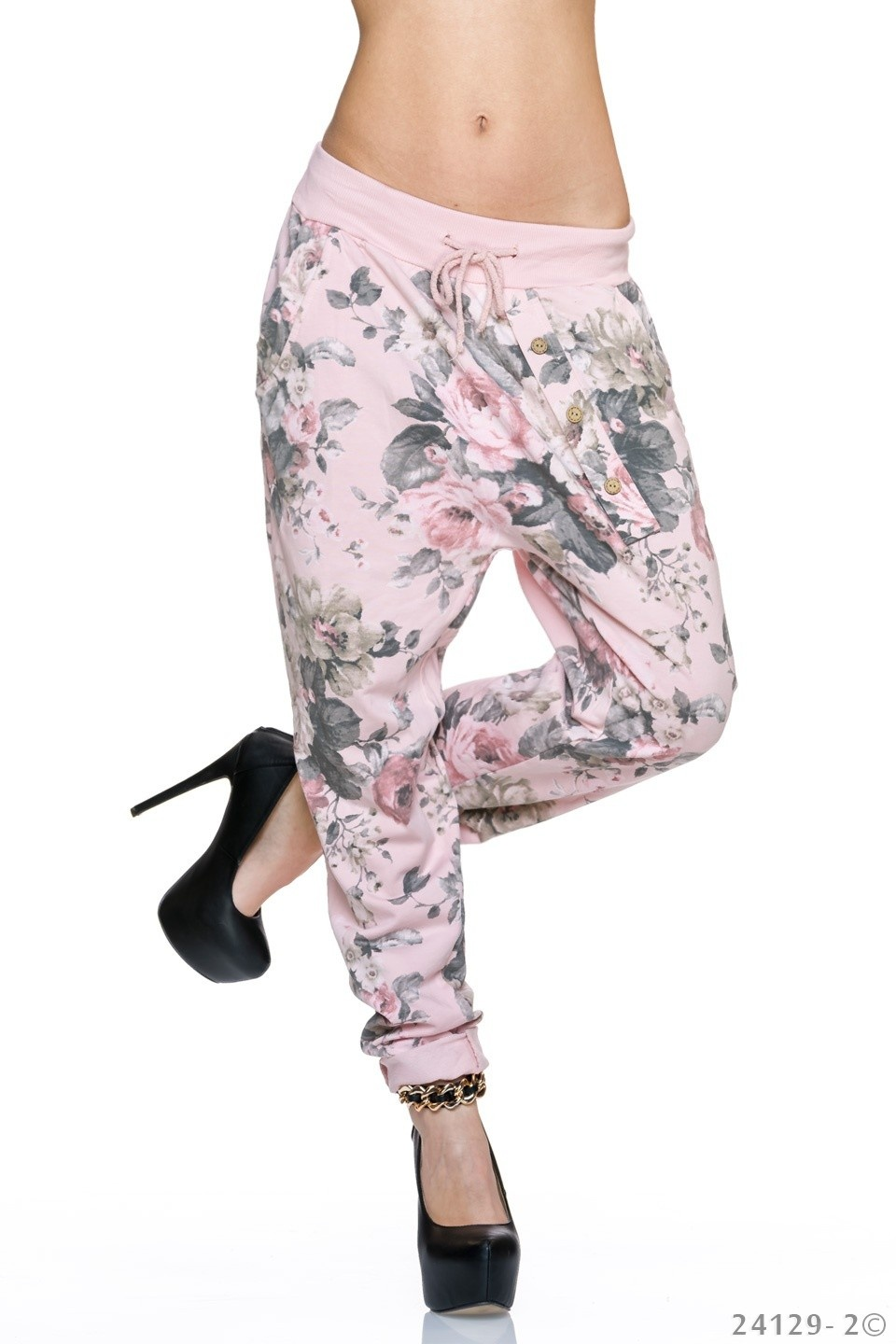 Harem-Broek Mixed - Rose