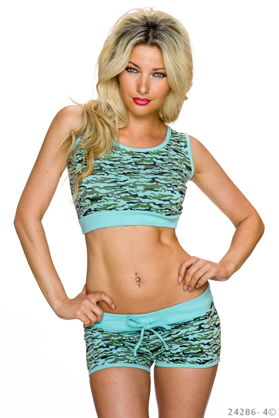 Top + Hotpants Mixed - Turquoise