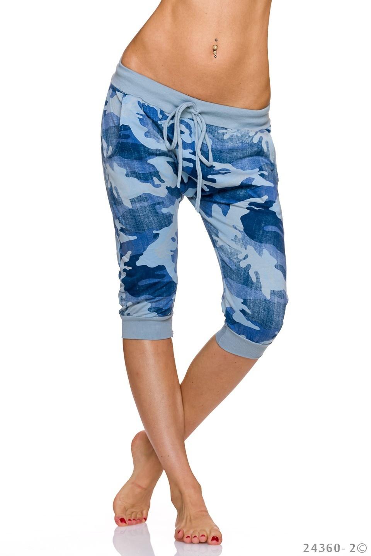 Capri-Broek Camouflage - Baby-Blauw