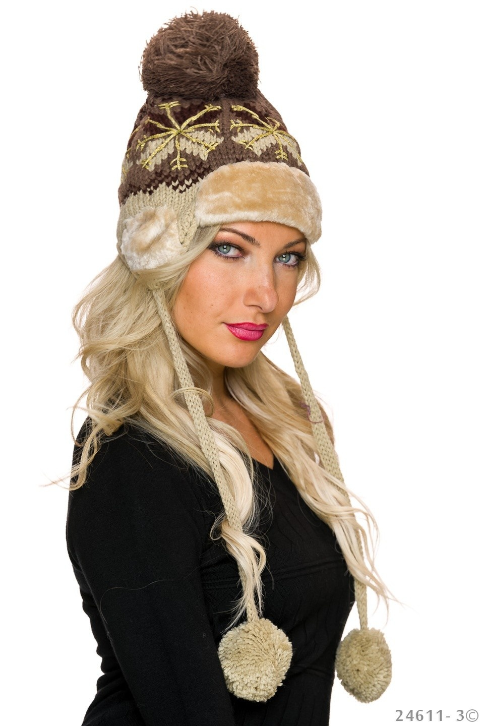 Knitted Hat Mixed - Beige