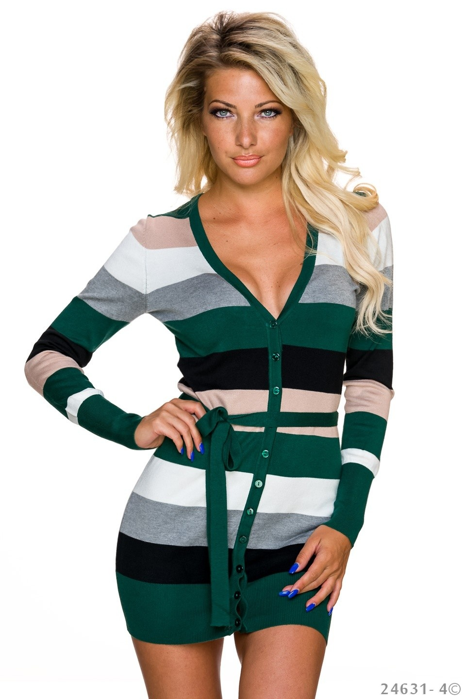 Cardigan Mixed - Groen