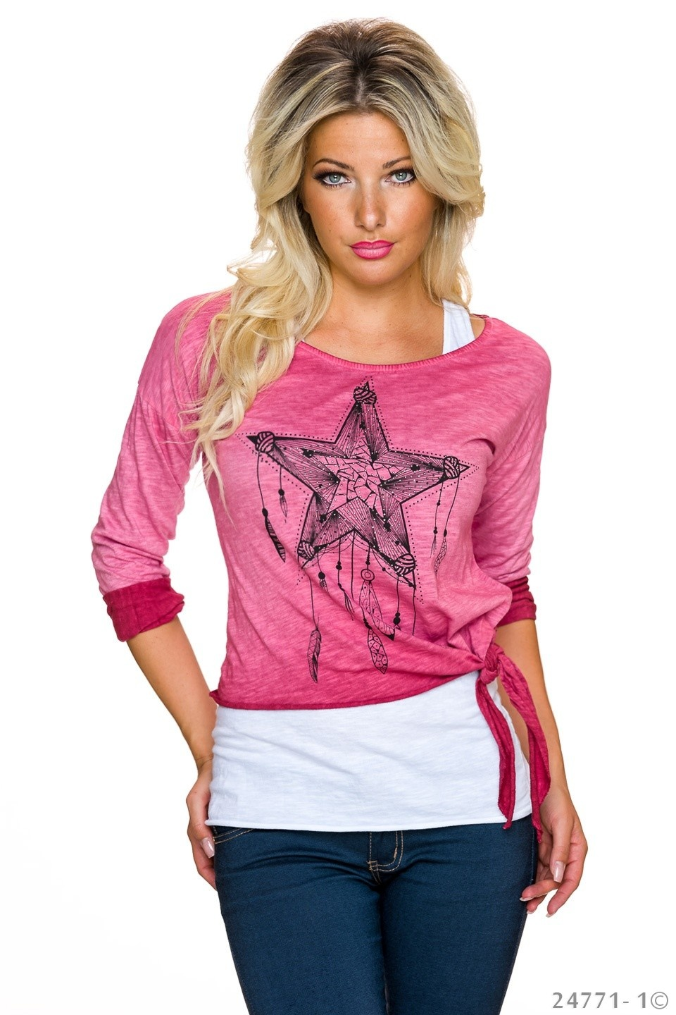 Top + Shirt Fuchsia