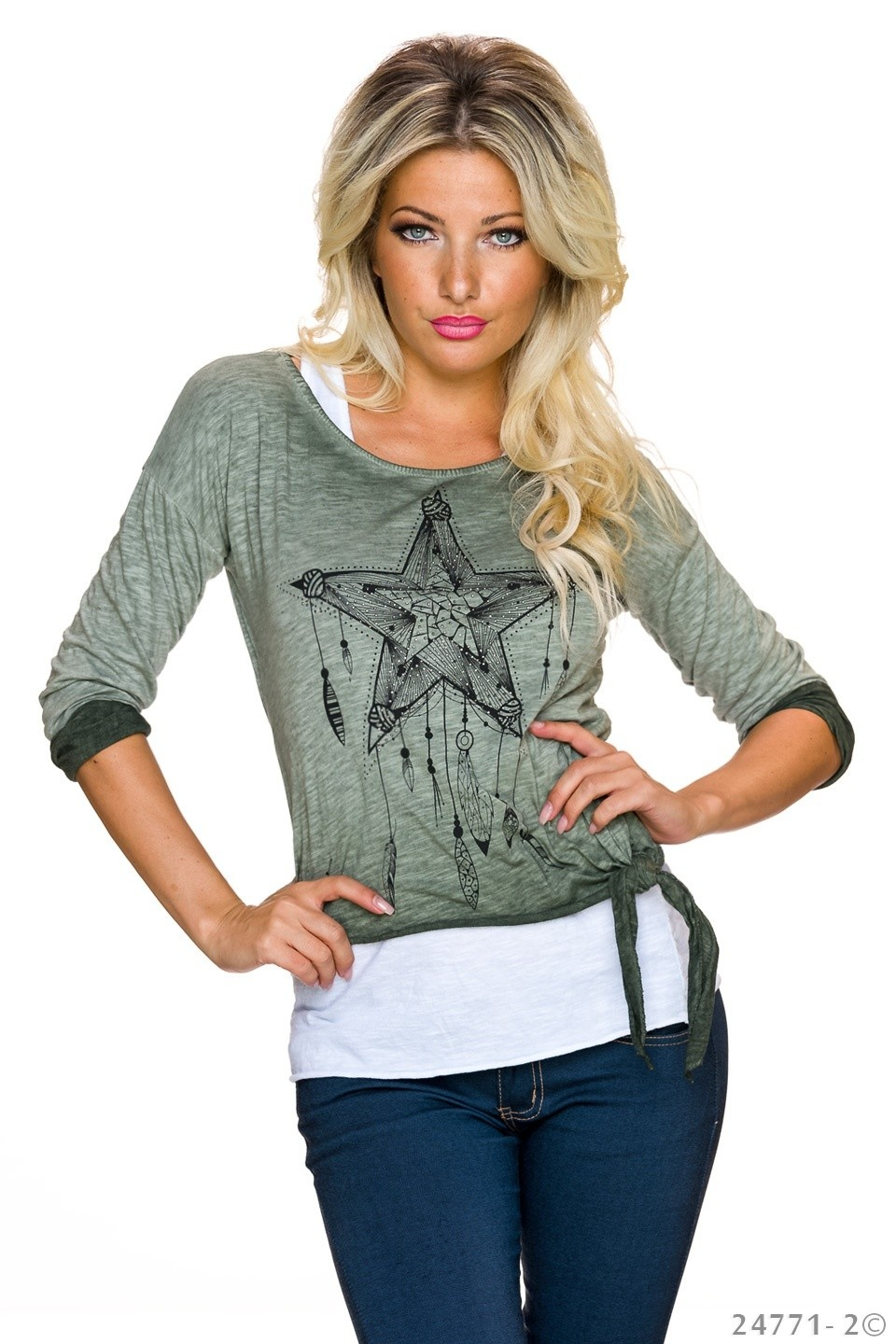 Top + Shirt Groen