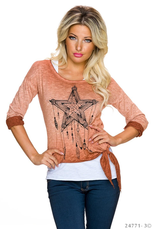 Top + Shirt Beige