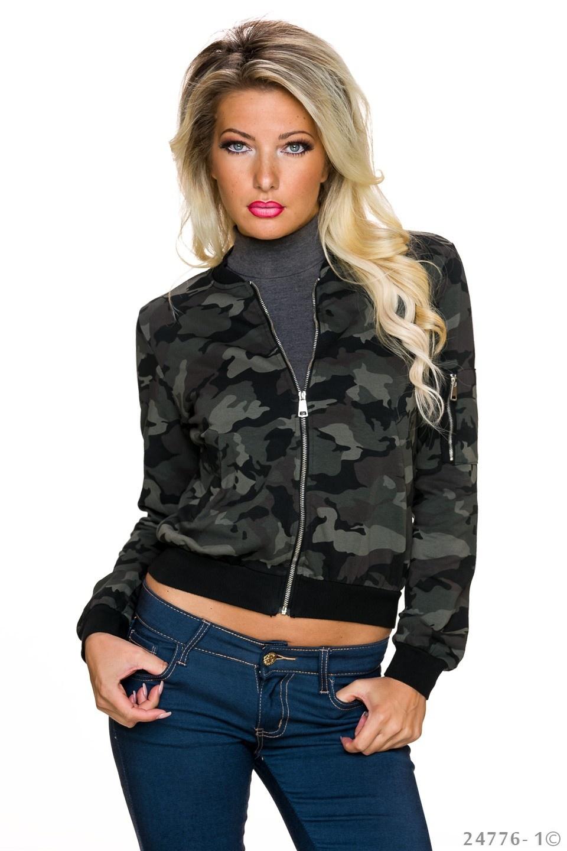 Jas Camouflage - Zwart