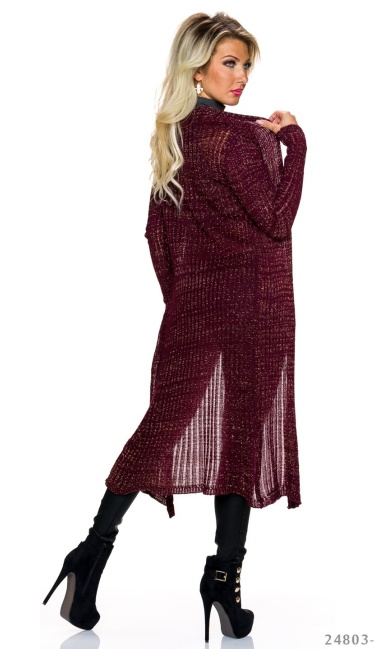 Cardigan Wine-Red / Gold